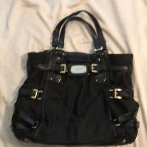 Michael Kors paten  leather accent handbag